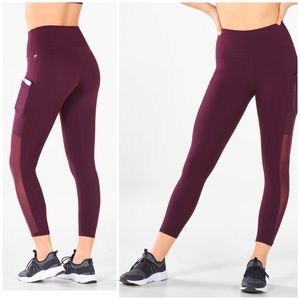 NWT Fabletics high rise maroon leggings XL